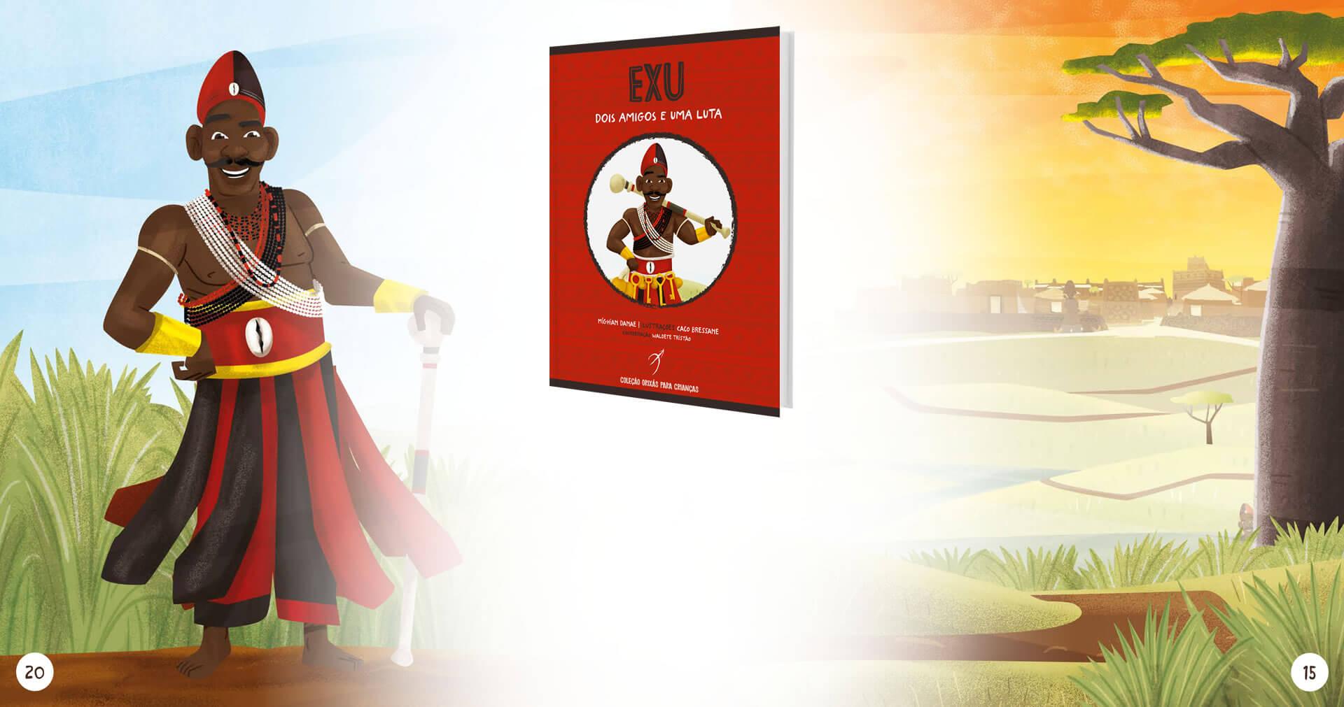 """Exu: dois amigos e uma luta é o segundo livro da coleção """"Orixás Para Crianças"""""""